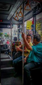 Buses gubernamentales en Yogyakarta.