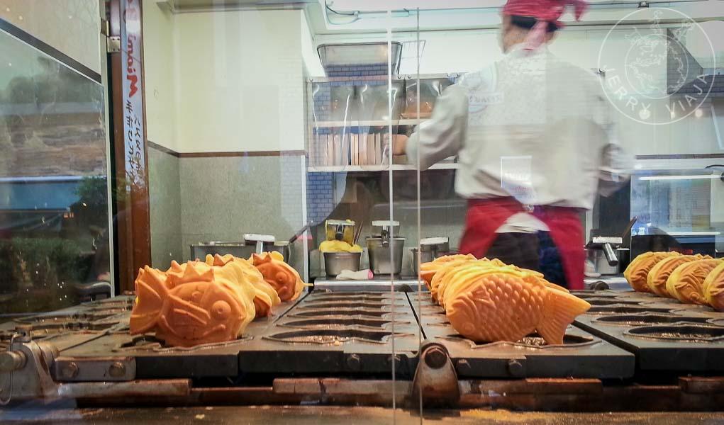 Taiyaki, pastel japonés en forma de pez