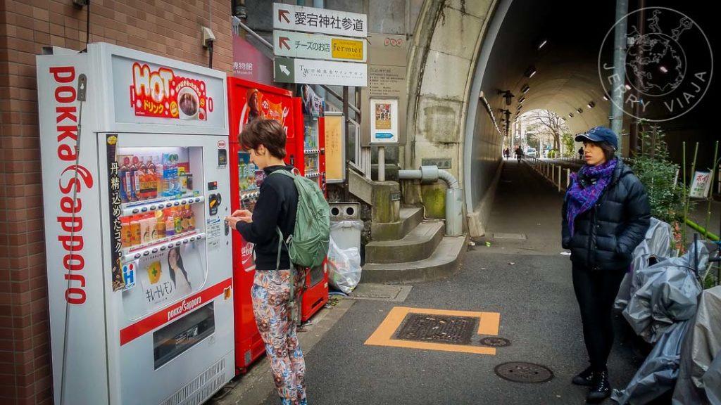Jidohanbaiki en las calles de Tokio
