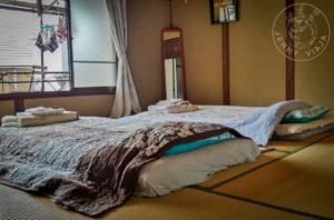 Dormitorio típico japones en Kobe.