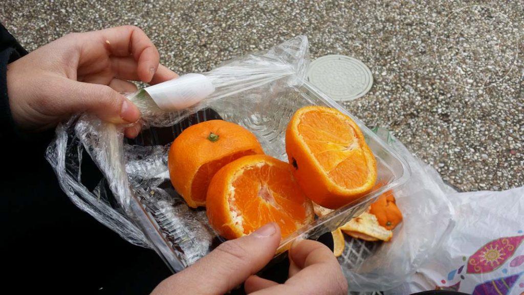 Naranjas sa precio rebajado por estar muy maduras