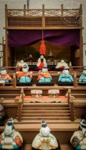 Muñecas típicas del Festival de Hinamatsuri