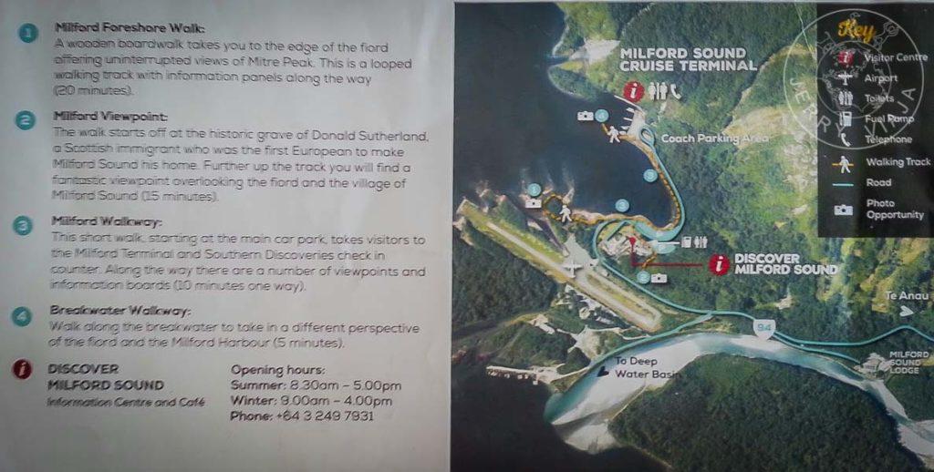 Instalaciones en la costa de Milford Sound