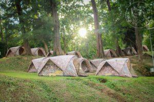 Carpas de alquiler en el Parque Nacional de Erawan.