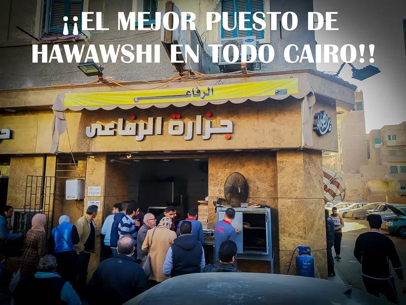 El mejor puesto de Hawawshi en todo Cairo