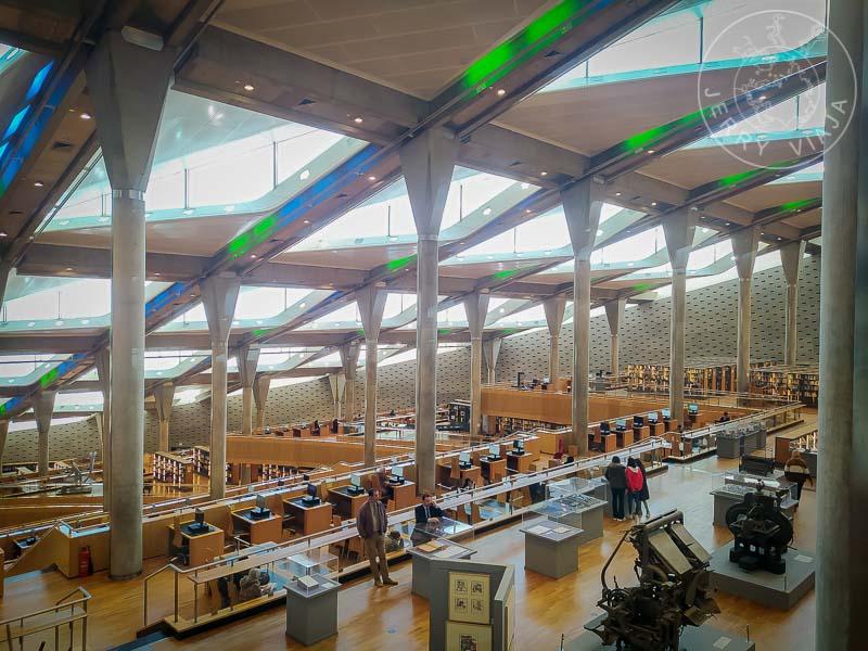 Nueva Biblioteca de Alejandria. Interior.