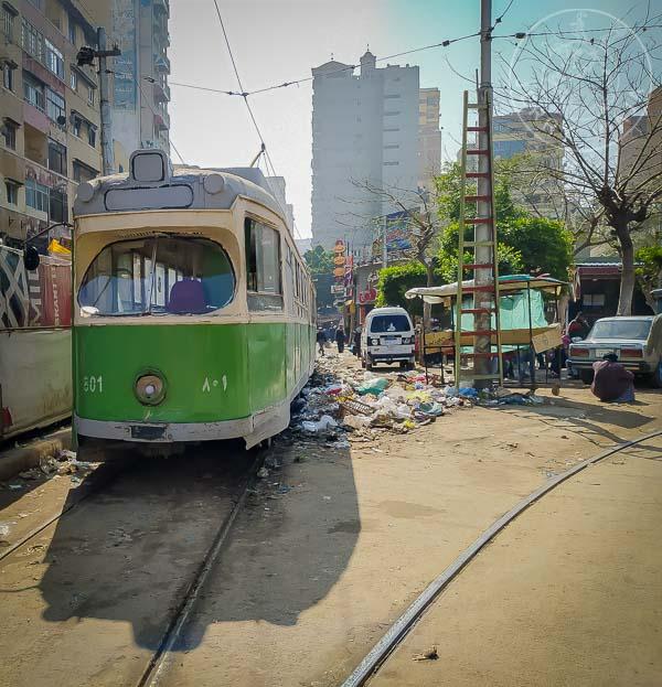 Línea de tram en Alejandría