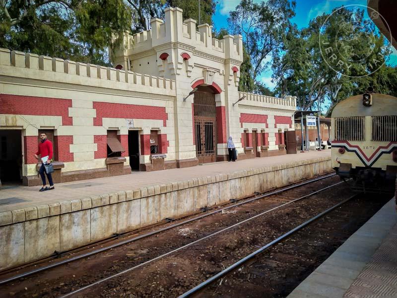 Estación de tren de tercera clase.