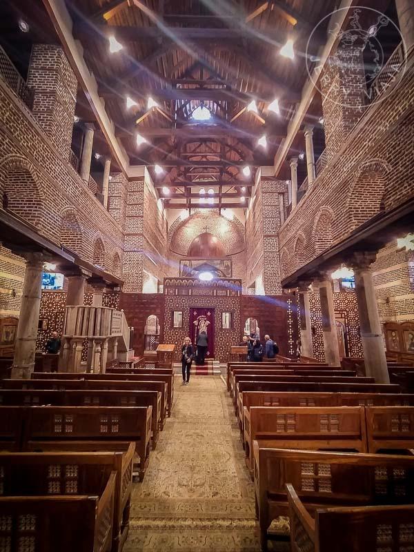 Interior de la Iglesia de San Sergio, Barrio Copto, El Cairo