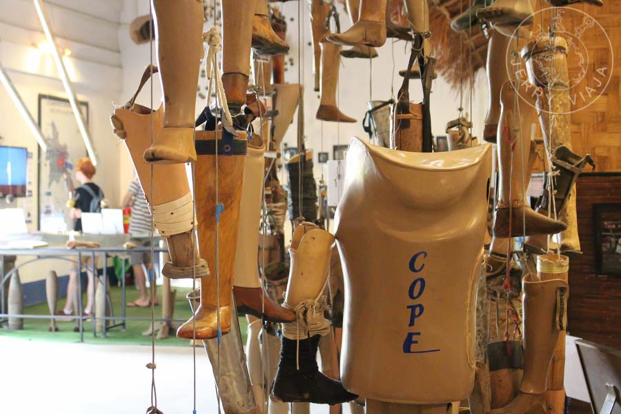Centro de Visitantes COPE. Exposición de prótesis