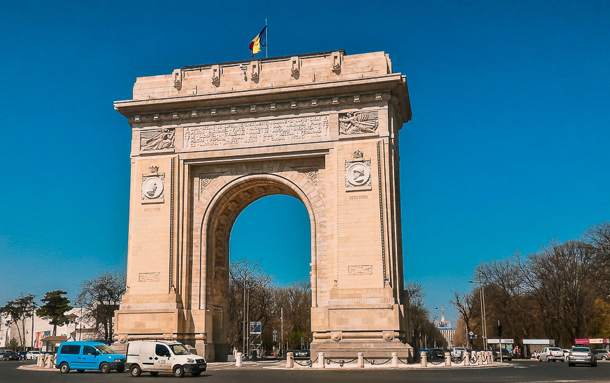 Arco del Triunfo de Bucarest, Rumania.