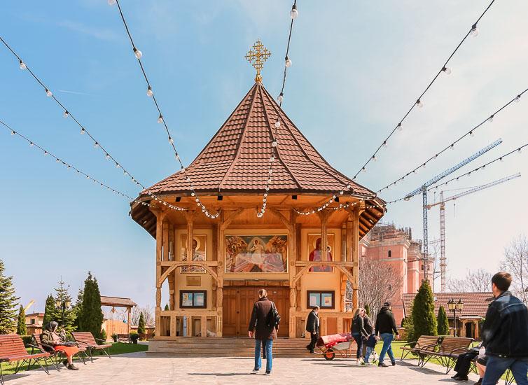 Capilla de una Iglesia Ortodoxa en Bucarest, Rumania