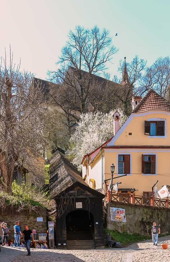 Escalera Cubierta o Scara Şcolarilor de Sighisoara, Rumania