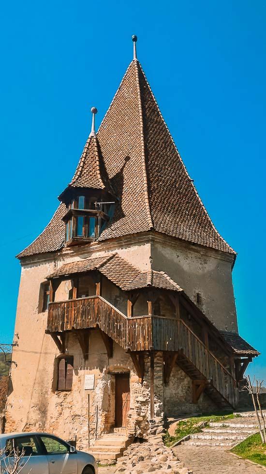 Torre de los Herreros o Turnul Fierarilor en Sighisoara, Rumania
