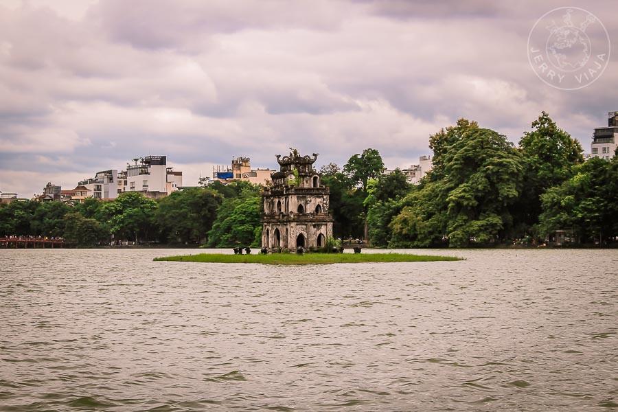 Lago Hoa Kiem en Hanoi, Vietnam