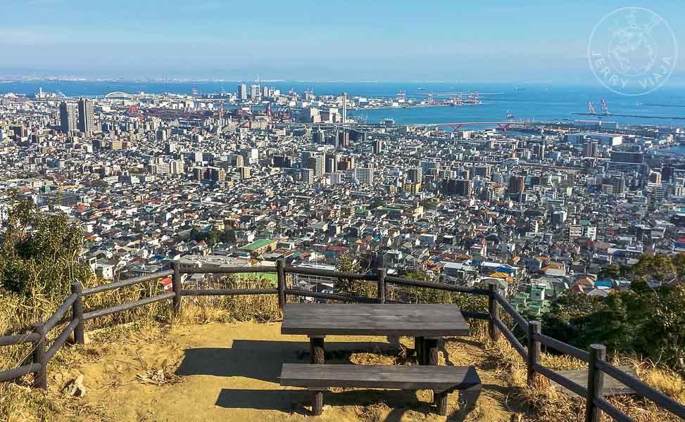 Mirador desde el Monte Rokko de Kobe, Japon