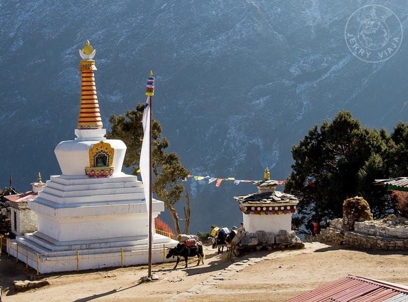 Estupa a la entrada de Tengboche, Campamento Base Everest, Nepal