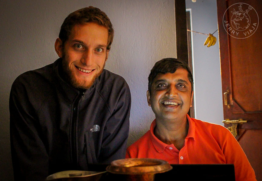 Arjun y Diego en Khatmandu, Nepal