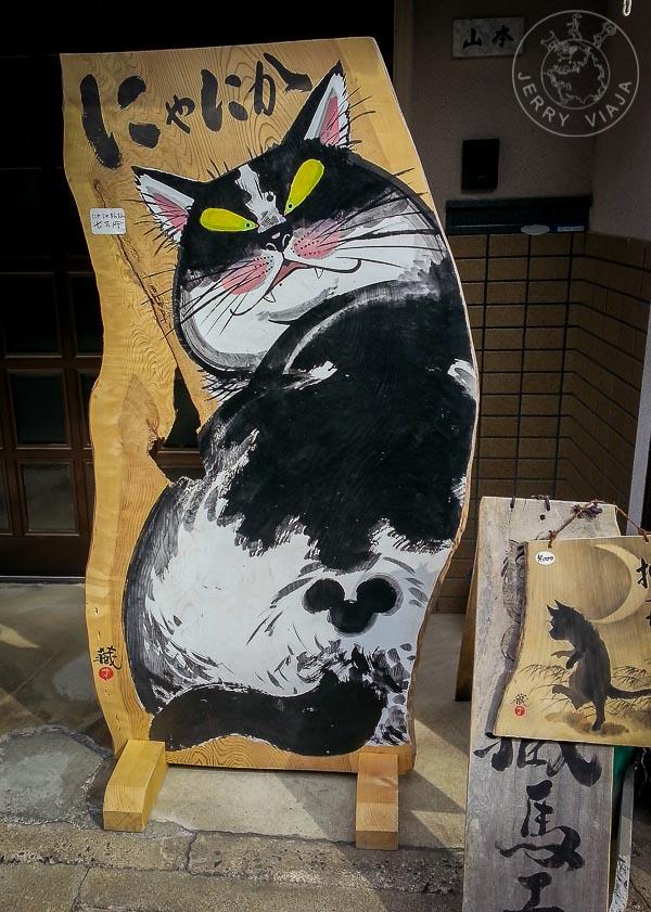 Pintura gato japones