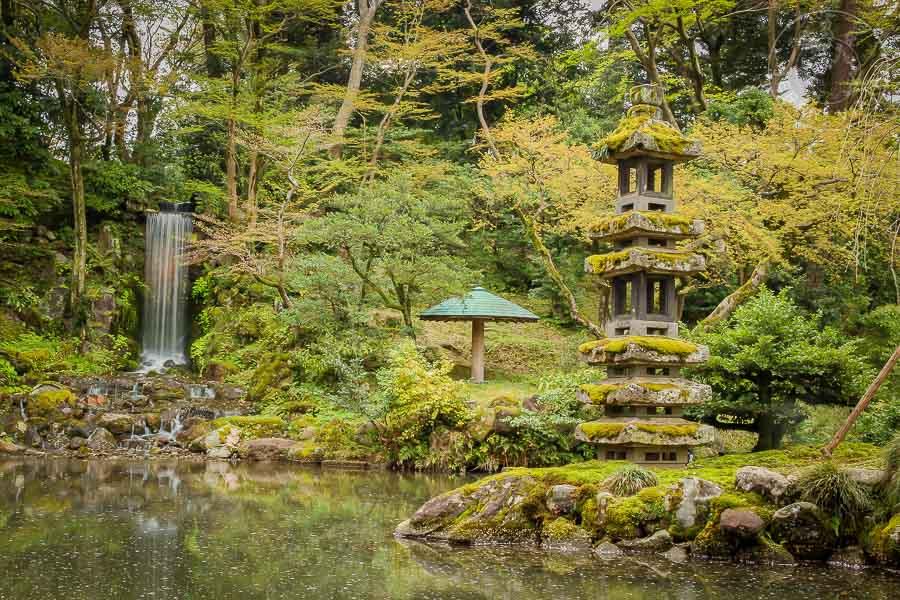 Jardines Kenrokuen, Kanazawa, Japon