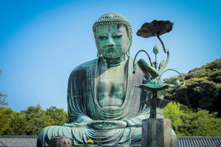 Guia que ver en kamakura. Gran Buda de Kamakura , Templo Kotoku in, Japón