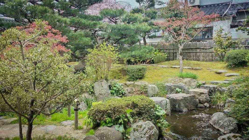 Distrito samurai Nagamachi, casa Kyu-Kaga Hanshi, Japon