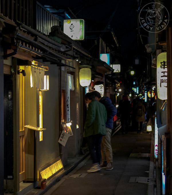 Calle Pontocho, Kyoto, Japón
