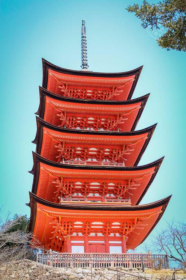 Pagoda Gojunoto, Miyashima, Japon