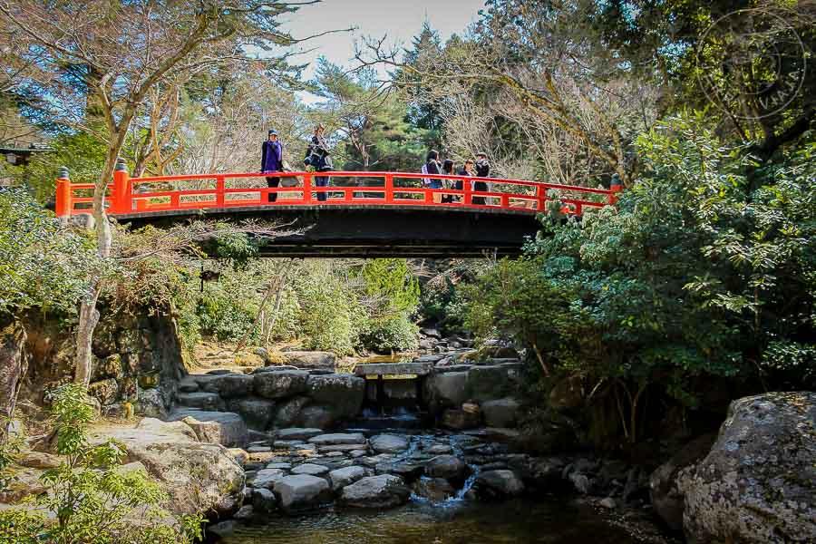 Parque Momijidani, Miyashima, Japón