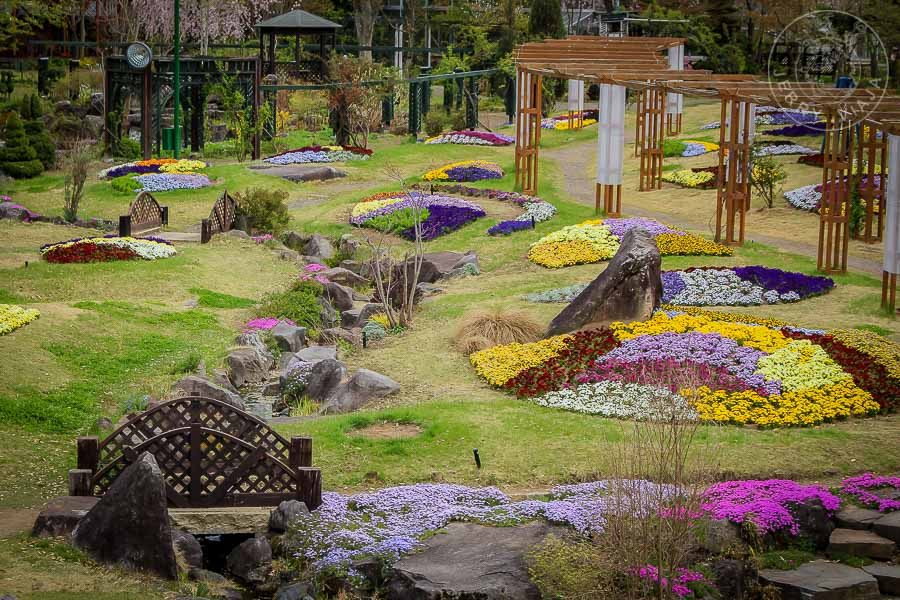 Jardin Floral de Obuse, japon