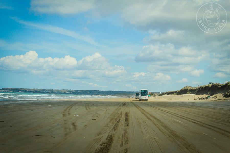 Chirihama Nagisa Driveway, la playa de los autos, Noto, japon