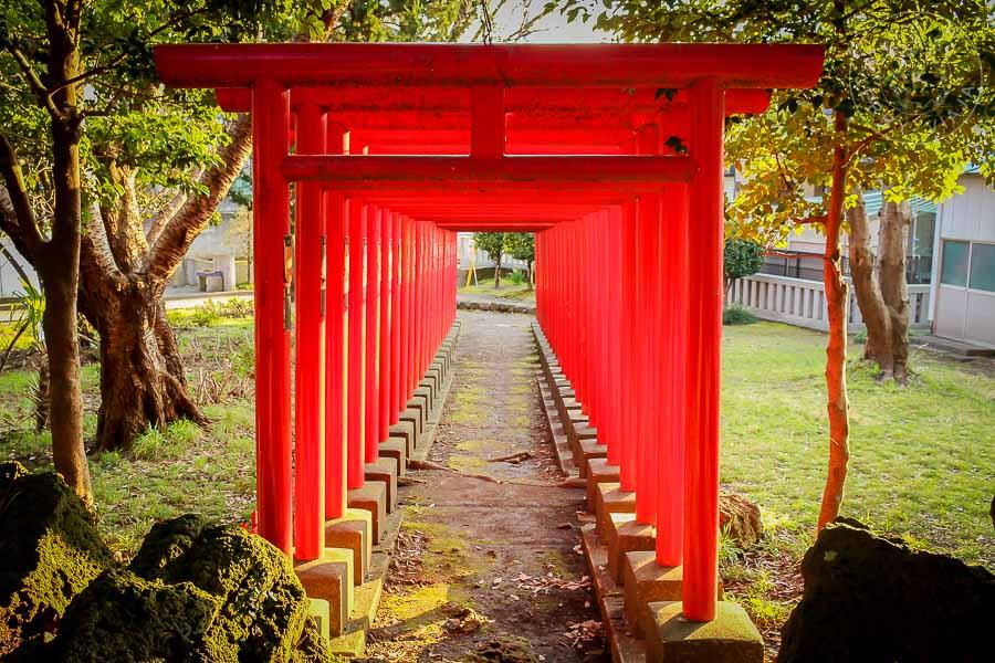 Santuario Wariozukainari, Mishima, japon
