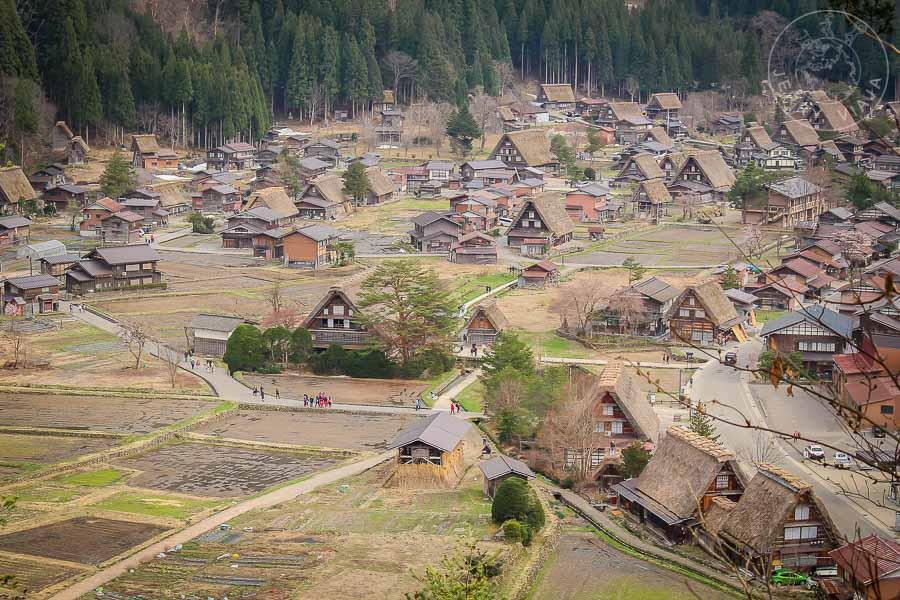 Casas estilo gassho sukuri en ogimachi, shirakawago , japon