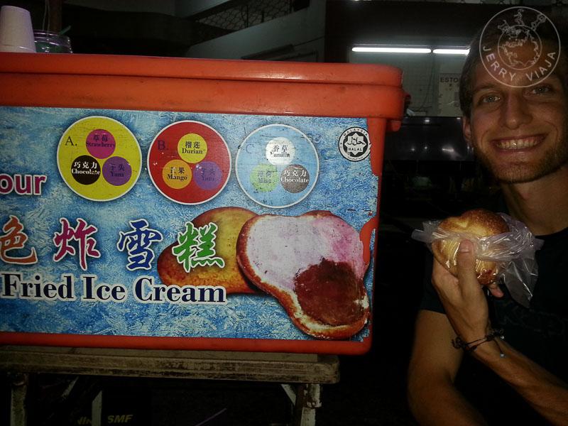 Ais Krim Goreng. Helado frito. Malasia