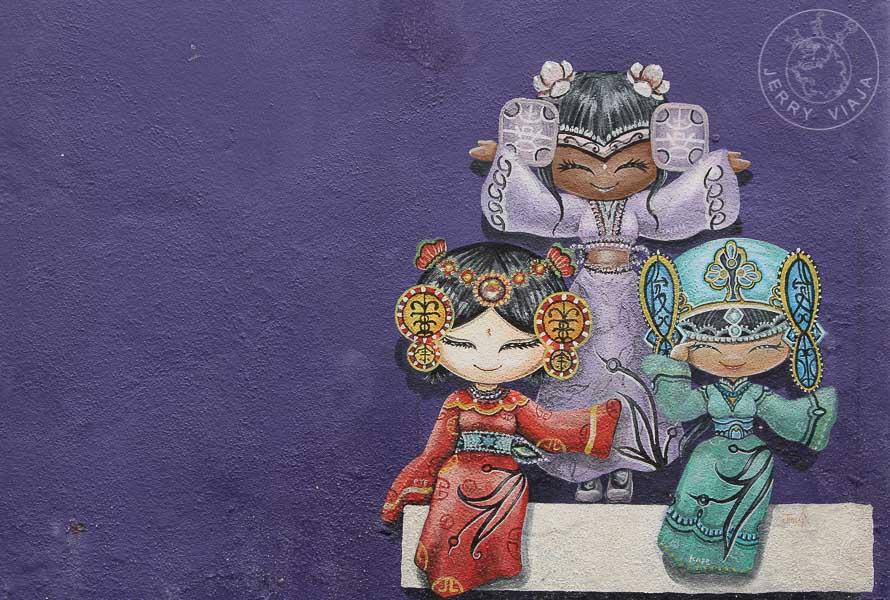 Arte callejero, Georgetown, Penang, Malasia