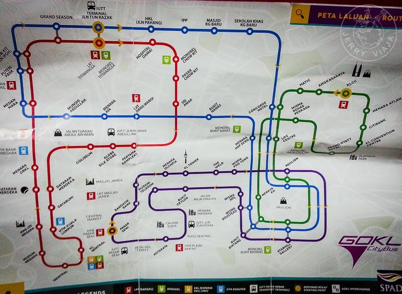 Plano de autobus GoKL de Kuala Lumpur, Malasia