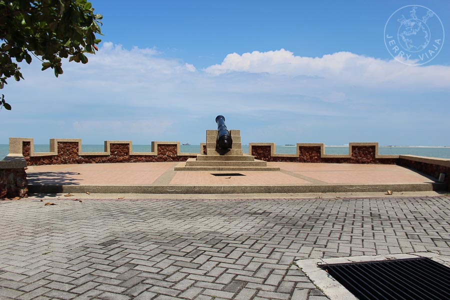 Plaza costera del Asentamiento Portugués - Kampung Portuguese, Melacca, Malasia