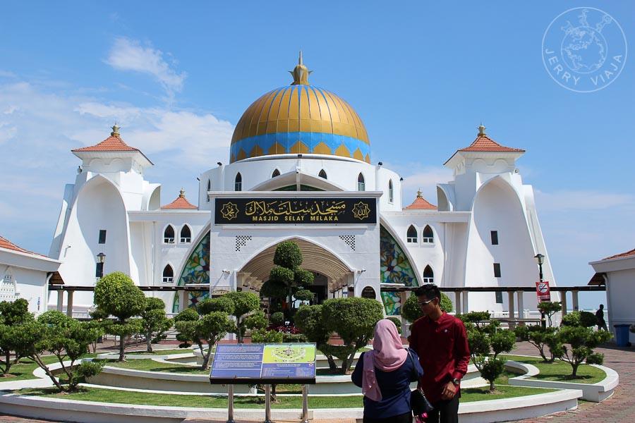 Masjid Selat, la mezquita flotante. Melacca, Malasia