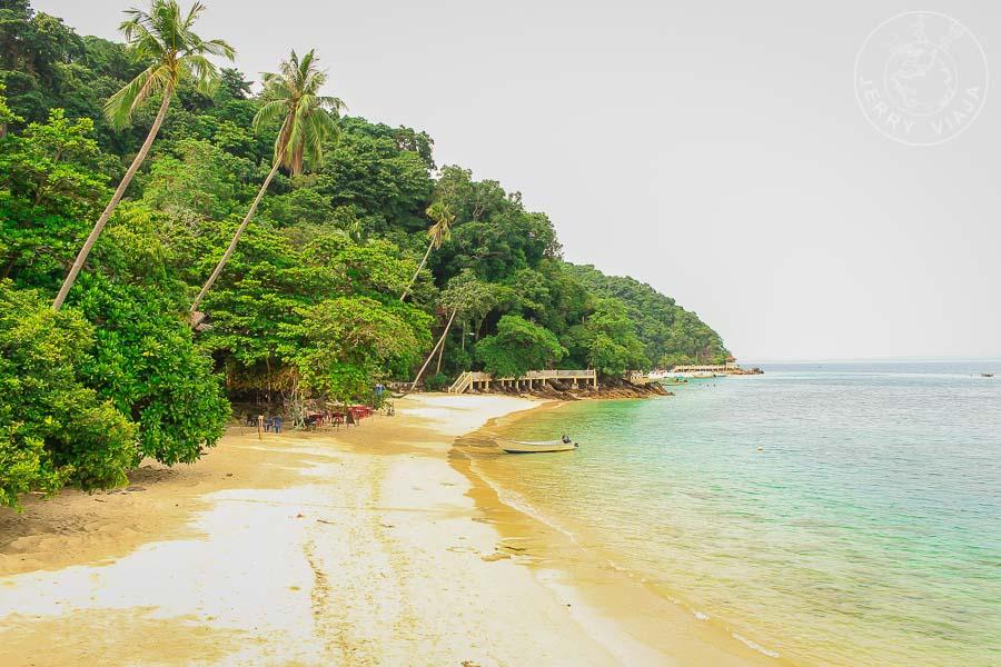 Playa de la isla Kapas, Malasia