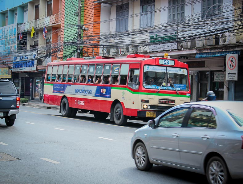 Bus en Bangkok, Tailandia