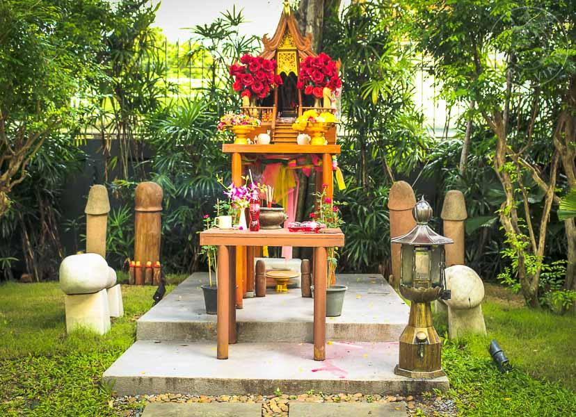 templo de la fertilidad Lingam., bangkok, tailandia