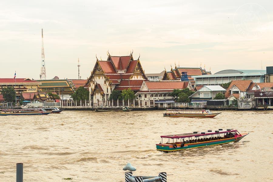 Río Chao Phraya. Bangkok, Tailandia